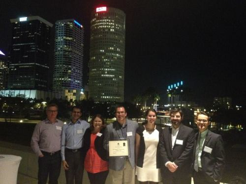 Members of CNU Tampa Bay and the Urban Charrette (left to right): Steve Schukraft, Vinod Kadu, Erin Chantry, Gui de Almeida, Ali Ankudowich, Evan Johnson, and Stephen  Benson